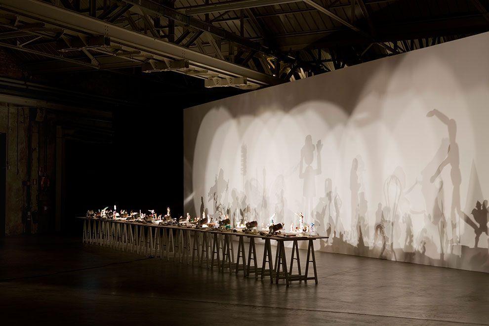 Hans-Peter Feldmann, Shadow Play, 2002-2012. Veduta dell'installazione, Pirelli HangarBicocca, Milano. Pirelli HangarBicocca, Milano. Foto Agostino Osio.