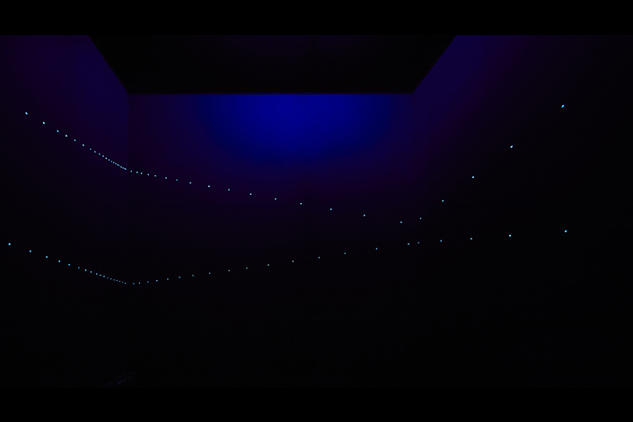 Lucio Fontana, Ambiente spaziale, 1967/2017, installation view at Pirelli HangarBicocca, Milan, 2017. Courtesy Pirelli HangarBicocca, Milan. ©Fondazione Lucio Fontana Photo: Agostino Osio