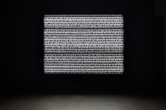 Rosa Barba, Sight Enables Us to Appreciate Distance, 2013/2016; installation view at Pirelli HangarBicocca, Milan, 2017. Courtesy of the artist and Pirelli HangarBicocca, Milan. Photo: Agostino Osio Private collection