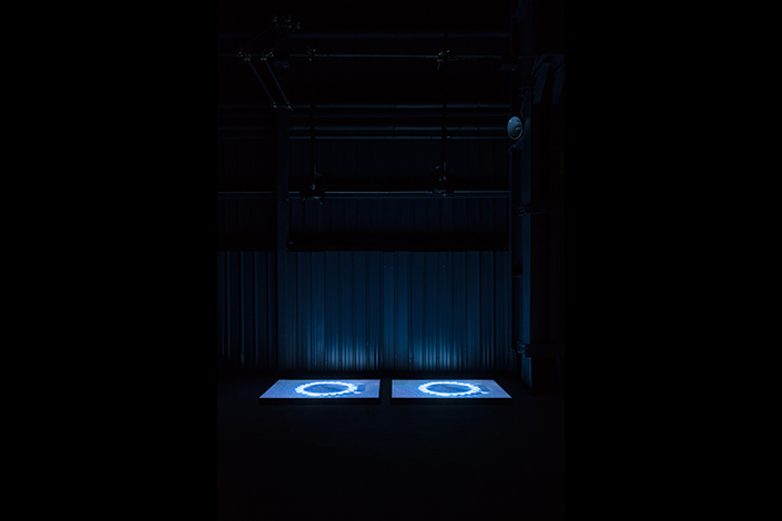 Miroslaw Balka, BlueGasEyes, 2004 Installation view at Pirelli HangarBicocca, Milan, 2017. Courtesy of the artist; Gladstone Gallery, New York and Brussels, and Pirelli HangarBicocca, Milan. Photo: © Attilio Maranzano