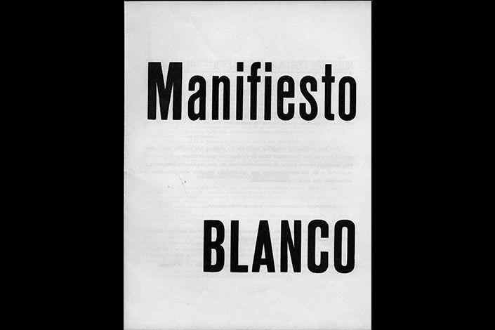 Lucio Fontana, Manifiesto Blanco, 1946. © Fondazione Lucio Fontana