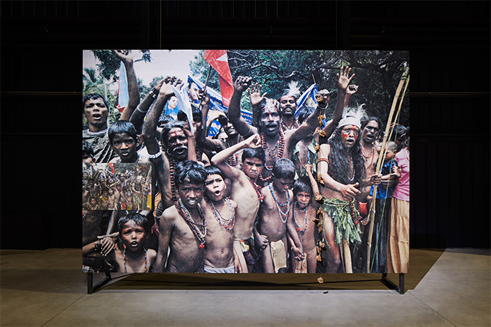 Sheela Gowda Protest My Son, 2011 Exhibition copy (2019) from a work in the Van Abbemuseum collection, Eindhoven Installation view at Pirelli HangarBicocca, Milan, 2019 Courtesy of the artist and Pirelli HangarBicocca Photo: Agostino Osio