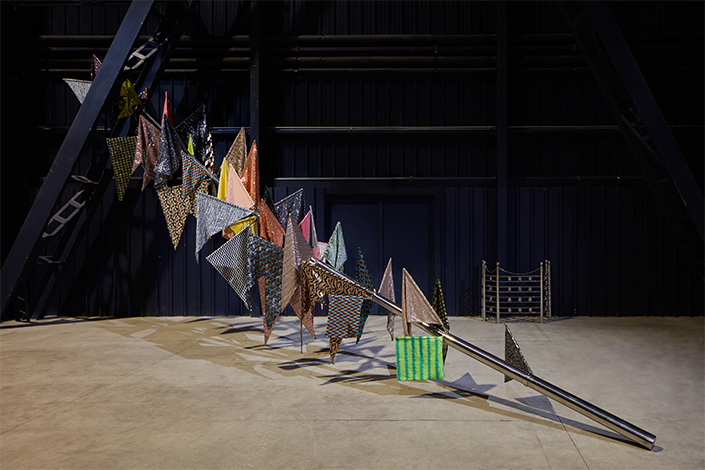 Sheela Gowda If You Saw Desire, 2015 Installation view at Pirelli HangarBicocca, Milan, 2019 Courtesy of the artist and Pirelli HangarBicocca Photo: Agostino Osio