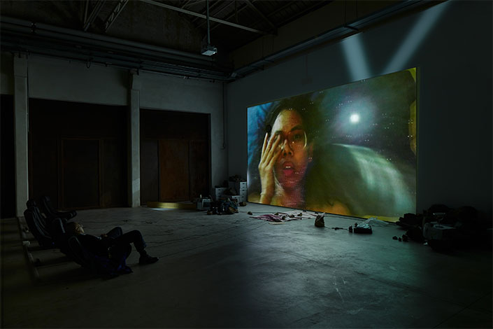 Trisha Baga Mollusca & The Pelvic Floor, 2018, installation view at Pirelli HangarBicocca, Milan, 2020. Courtesy the artist; Greene Naftali, New York, and Pirelli HangarBicocca, Milan Photo: Agostino Osio
