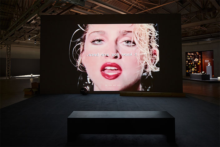 Trisha Baga Madonna y el Niño, 2010, installation view at Pirelli HangarBicocca, Milan, 2020. Courtesy the artist and Pirelli HangarBicocca, Milan Photo: Agostino Osio