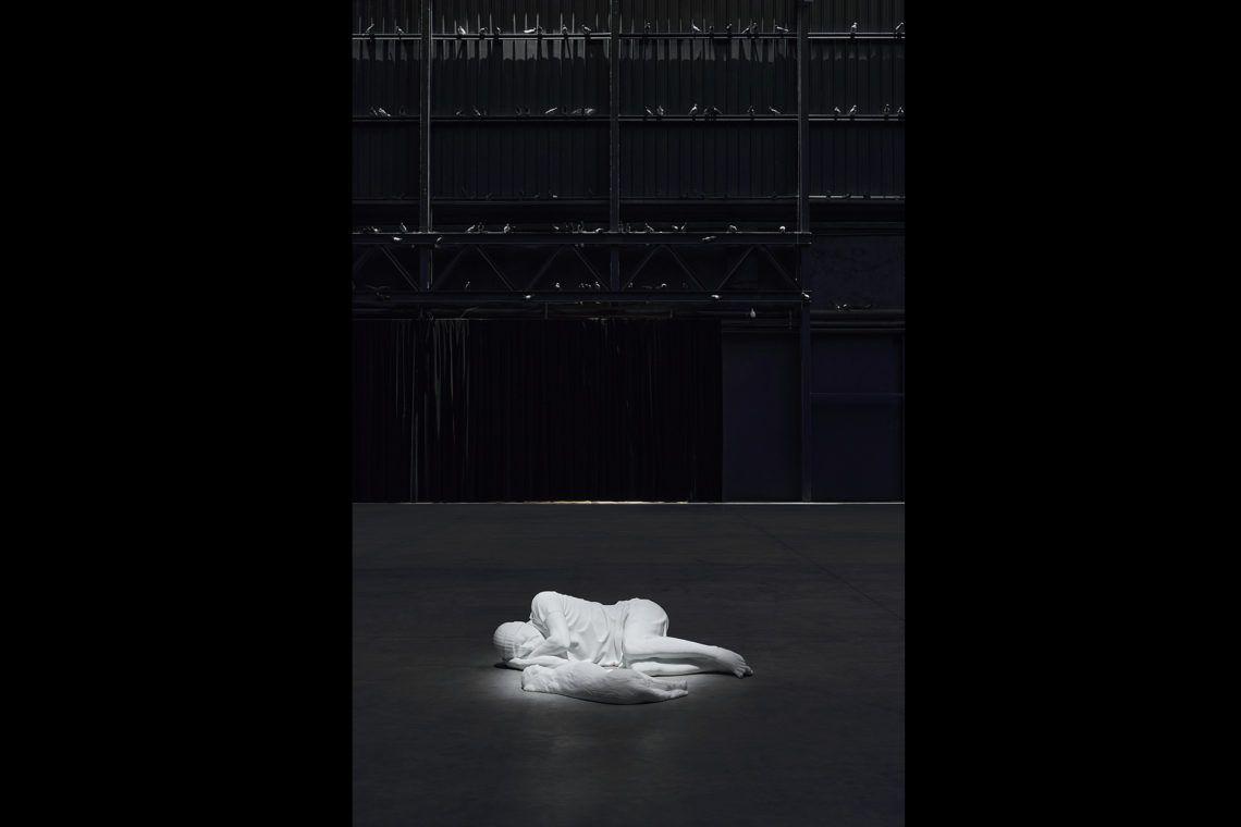"Maurizio Cattelan Exhibition view, ""Breath Ghosts Blind"", Pirelli HangarBicocca, Milan, 2021 Courtesy the artist and Pirelli HangarBicocca, Milan Photo: Agostino Osio"