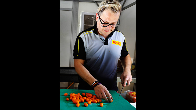 Pirelli: flat out in the kitchen as well as on the race truck