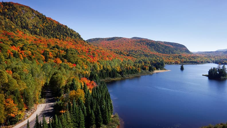 Falling for North America - The Laurentians