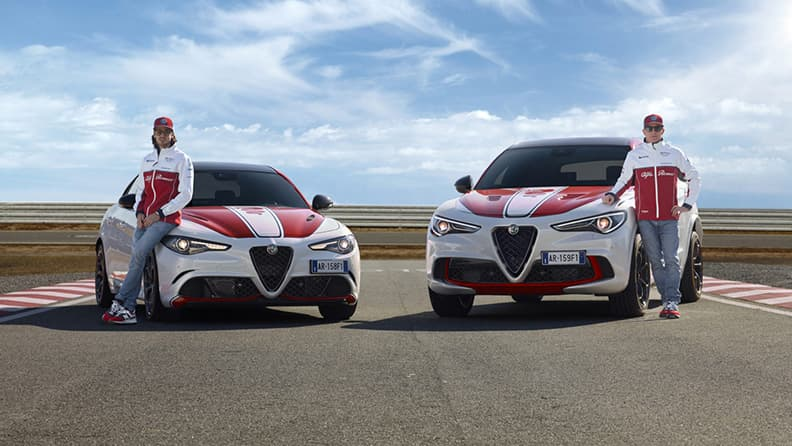 Fast driving in super SUVs - Alfa Romeo Stelvio Quadrifoglio Racing
