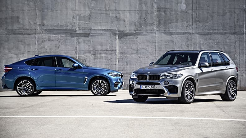 Fast driving in super SUVs - BMW X5 M and X6 M