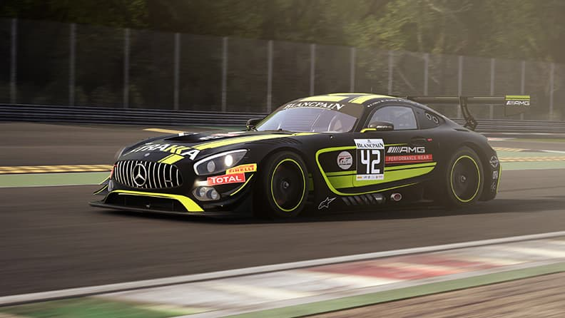 From the real tracks to virtual ones with the Blancpain GT3 01