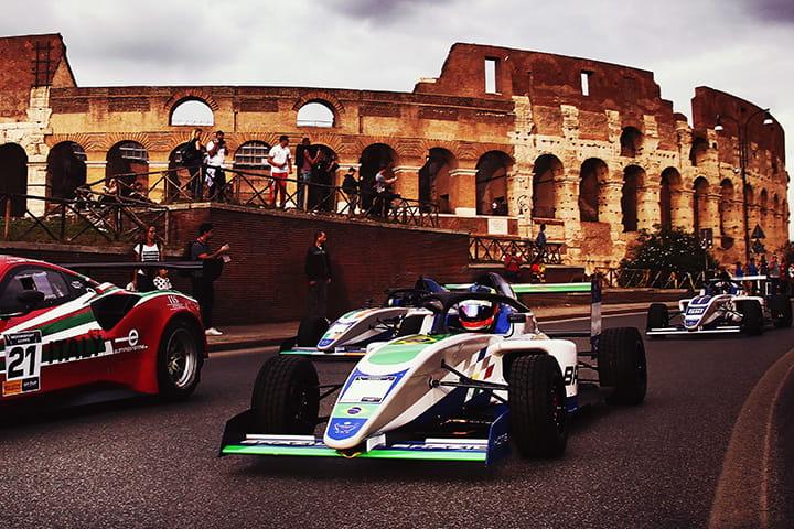 Motorsport Games, gladiators grab <br>gold medals in Rome