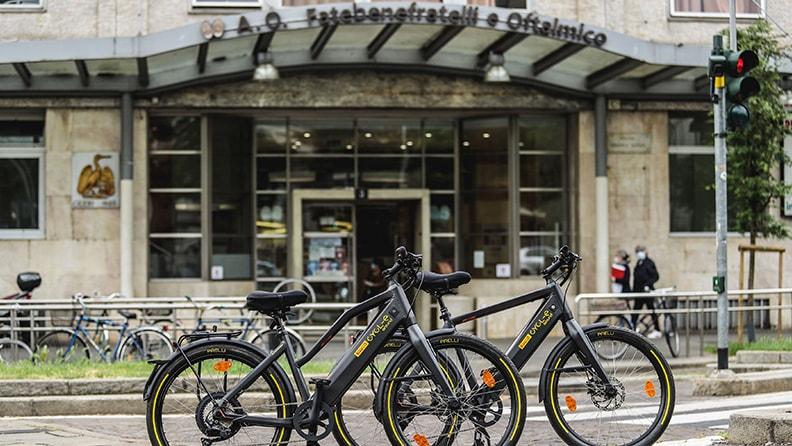 Pirelli e-bikes for Milan's hospitals