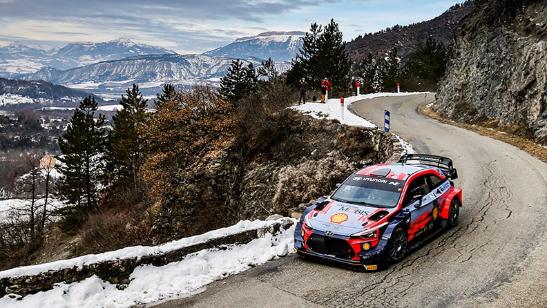 It's snow joke at Rallye Monte-Carlo, the opening round of the World Rally Championship 02