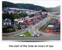 The start of the Total 24 Hours of Spa