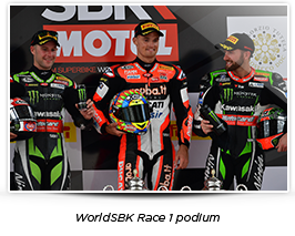 WorldSBK Race 1 podium