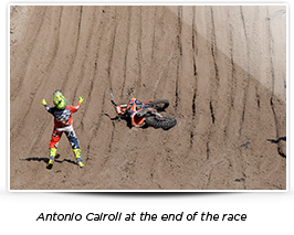 Antonio Cairoli at the of the race